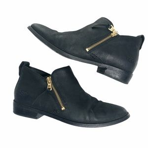 UGG Glee Leather Ankle Bootie Black 8.5